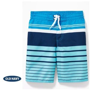 NWT Coral Blue Boys Patterned Swim Trunks XS (5)